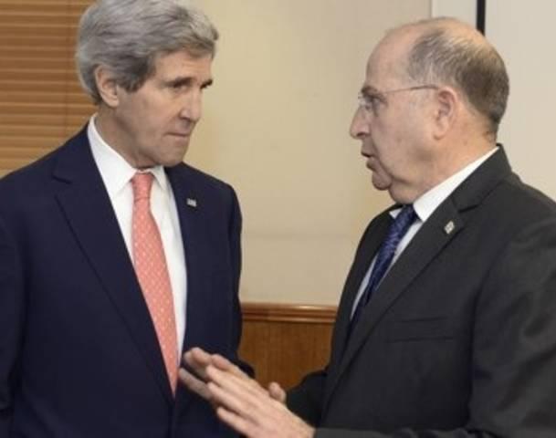 John Kerry and Moshe Ya'alon