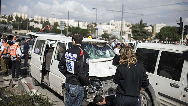 A Driver Rams His Car Into Pedestrians In Suspected East Jerusalem Terror Attack
