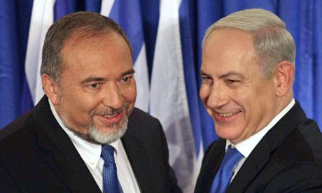 Avigdor Lieberman and Binyamin Netanyahu